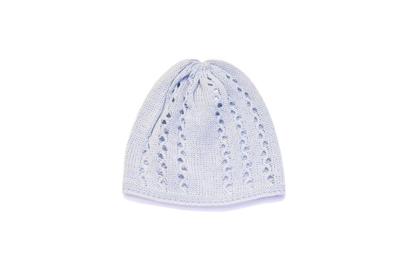 pletena kapa za bebe svjetlo plava