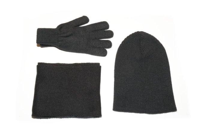 kapa, šal i rukavice - komplet